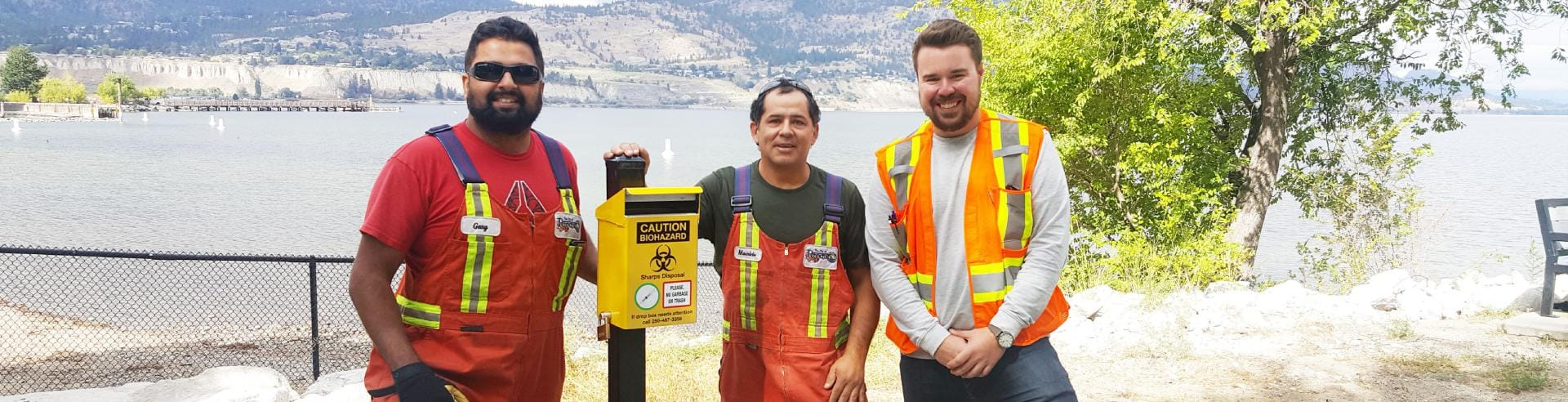 Sharps Disposal Container Okanagan Lake Park