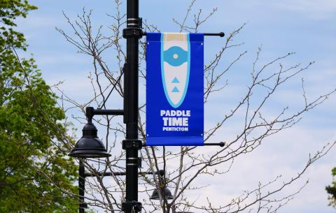 Street banners installed downtown