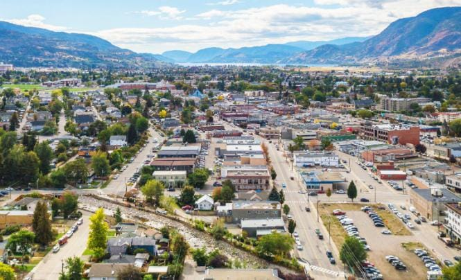 Aerial view of Penticton